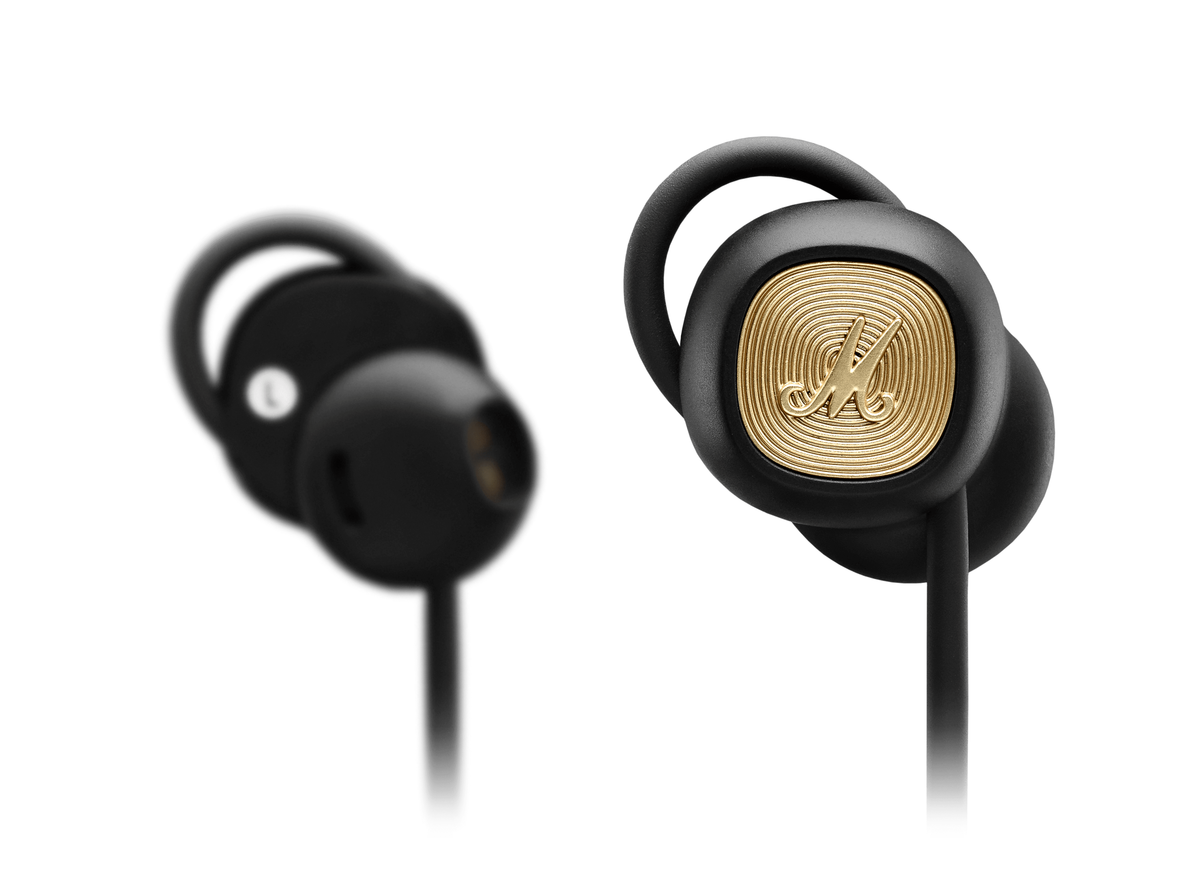 1-BUD-B Brown Earphone w// Heavy-Duty Cord